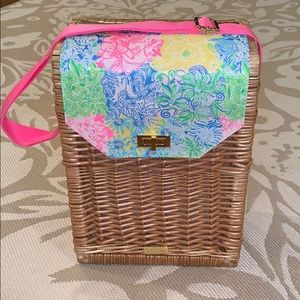 Lilly Pulitzer Picnic Wicker Basket